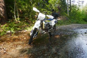 Husqvarna 701 creek crossing