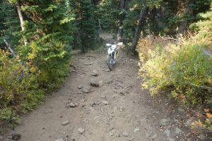 Husky 701 in steep hill