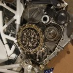 Husqvarna 710 clutch modifications - burned fibers